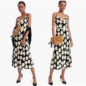 J. Crew Collection Velvet Floral Print Midi Dress